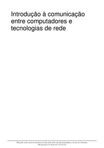 Introdução à comunicação entre computadores e tecnologias de rede