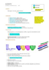 Materiais Dentários: Alginato