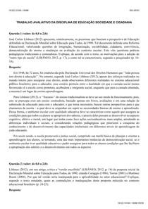 TRABALHO EDUCAÇÃO SOCIEDADE E CIDADANIA 3