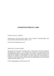 ARTIGO - EXERCICIO FISICO E AIDS - 2010