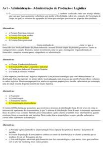 Av1 - Administração - Administração de Produção e Logística 14-03-2016