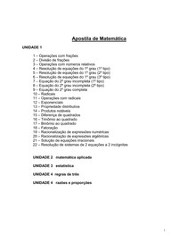 APOSTILA COMPLETA DE MATEMÁTICA