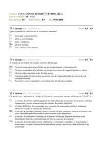 FUNDAMENTOS DE DIREITO EMPRESARIAL 2014.1