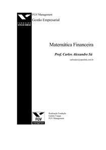 MATEMÁTICA - Apostila FGV de Matemática Financeira