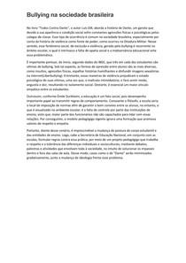 REDAÇÃO - BULLYING NA SOCIEDADE