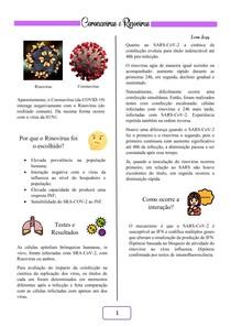 Coronavírus VS Rinovírus