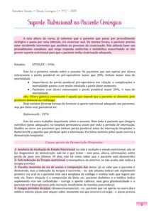 Suporte Nutricional ao Paciente Cirúrgico - Márcio Cortez