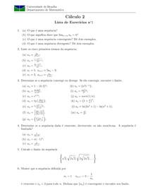 Lista de Exercícios de sequências