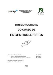 Minimonografia do curso de Engenharia Física