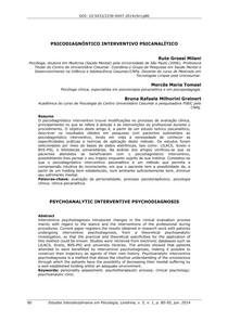Psicodiagnóstico Interventivo Psicanalítico