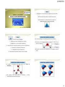 76e6b29d954 3 - Água e suas propriedades - Química e Bioquímica Animal