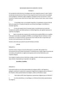 MECANISMOS BÁSICOS DE AGRESSÃO E DEFESA