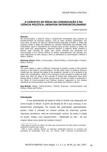 O Conceito de mídia na comunicação e na Cicência Política