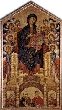 Giovanni Cimabue - The Madonna in Majesty