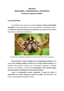 PDF Invertebrados - Filo Arthropoda