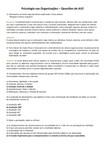 AV2 - 14 questões Psicologia nas Organizações
