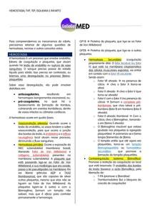 Hemostasia, TEP, TVP, Isquemia e Infartos Branco e Vermelho (Resumão)