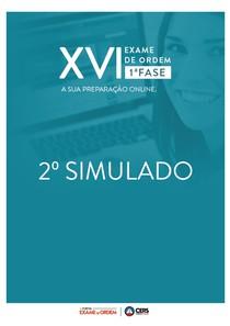 2º SIMULADO OAB XVI – 1ª FASE 2015