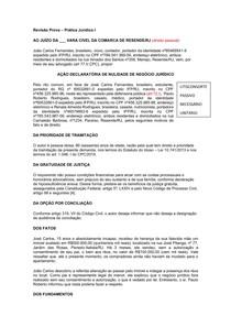 Revisão Prática Jurídica I - AÇÃO DECLARATÓRIA DE NULIDADE DE NEGÓCIO JURÍDICO