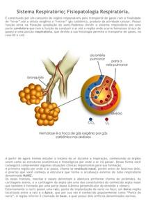 8 - Sistema Respiratório; Fisiopatologia Respiratória