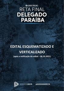 Edital Verticalizado e Esquematizado (após retificação) PCPB