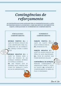 Contingências de reforçamento (Reforço positivo, reforço negativo, punição positiva, punição negativa, extinção)
