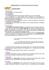 RESUMO - Processo Penal I - 2° Bi