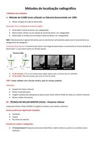 Métodos de localização radiográfico