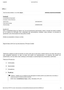 Apol 1   CONTABILIDADE DAS ORGANIZAÇÕES