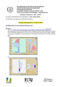 AD2 Matemática na Educação 2 2018.1