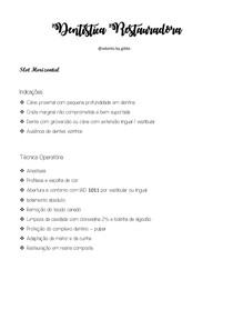 RESUMÃO - TEMPO OPERATORIO