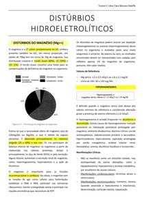 DISTÚRBIOS HIDROELETROLÍTICOS - Magnésio e Cloro