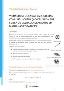 Vibração causada por força de desbalanceamento em máquinas rotativas - Apostila