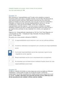 Apol 2 Responsabilidade Social e Empresarial NOTA 100