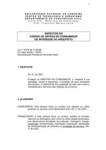 Cod. defesa do consumidor - arquiteto