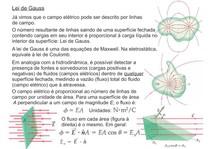 Lei de Gauss - Física - Eletromagnetismo