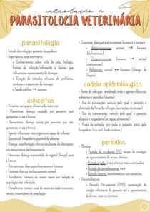 Introdução à Parasitologia Veterinária