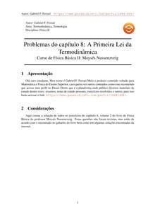 Resolução do Capítulo 8, Volume 2 do Livro de Física do Moysés: Completo
