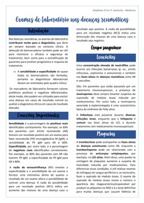 Exames de laboratório nas doenças reumáticas