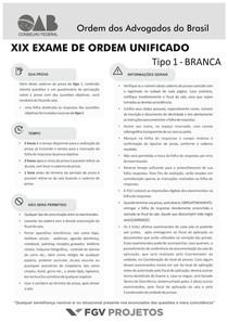 CADERNO TIPO 1 XIX EXAME alterado FGV