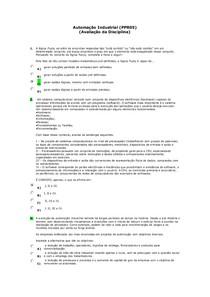 Automação Industrial (PPR05) (Avaliação da Disciplina)