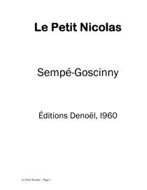 Le Petit Nicolas BOOK