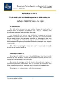 ATIVIDADE PRÁTICA - TÓPICOS ESPECIAIS
