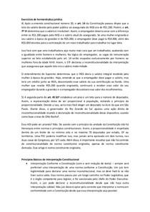 Exercícios de hermenêutica jurídica- Thiago Varella
