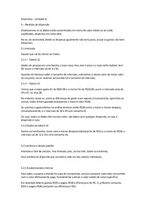 Estatistica - Unidade III - Resumo