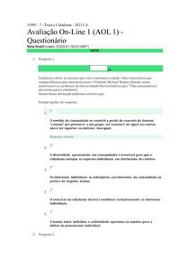 Avaliação On-Line 1 (AOL 1) -