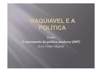 5- Miguel - Maquiavel e a Política