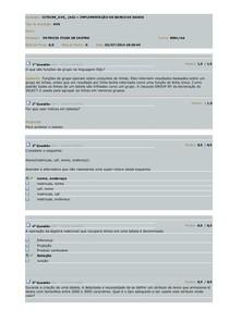 AVS Implem Banco de dados