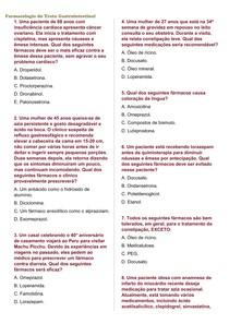 Questões sobre os Fármacos do Trato Gastrointestinal + gabarito