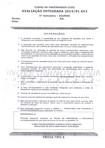 Prova integrada 5º senestre engenharia civil 2014